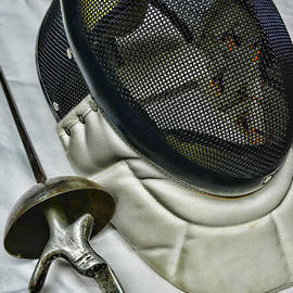 Paul Ward - Fencing Mask and Foil