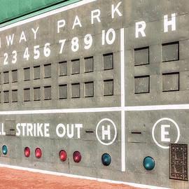 Susan Candelario - Fenway Park Scoreboard