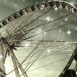 Marianna Mills - Ferris Wheel at Night in Paris