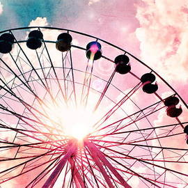 Colleen Kammerer - Ferris Wheel in Pink and Blue