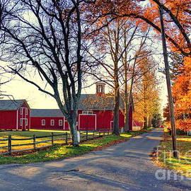 Marcel  J Goetz  Sr - Ferry Lane November Sunset