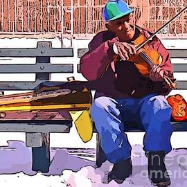 John Malone Halifax digital artist - Fiddling Around in the Cold