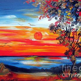 Roberto Gagliardi - Fiery Sunset by the Indian Ocean