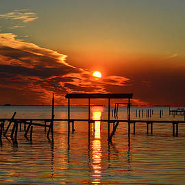 Jeff at JSJ Photography - Fiery Sunset Colors Over Santa Rosa Sound