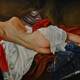 Epifanio jr Mendoza - Figurative Nude of a Women