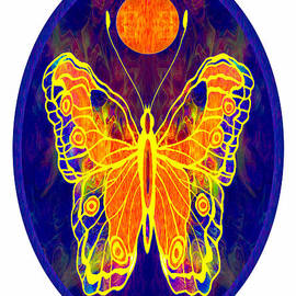 Omaste Witkowski - Finding My Way Abstract Butterfly Art by Omaste Witkowski