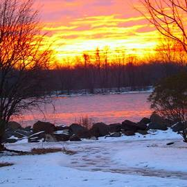 Robyn King - Fire and Ice Sunrise on the Delaware River