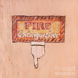 Art Block Collections - Fire Extinguisher Here