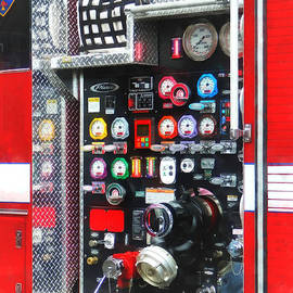 Susan Savad - Firemen - Colorful Gauges on Fire Truck