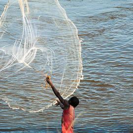 Robert Ford - Fisherman Lufira River Kiubo Falls Katanga Congo