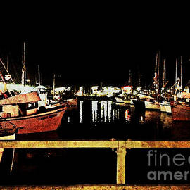 Jani Bryson - Fishermans Wharf at Night San Francisco California