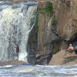 Karen Rispin - Fishermen at Thika Falls