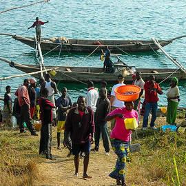 Robert Ford - Fishermen Selling Catch Lake Kivu Rwanda