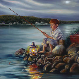 Sharon Lange - Fishing at Dusk