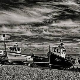 Pete Hemington - Fishing boats at Beer