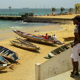 Robert Ford - Fishing Boats Ile de Goree Fortress Dakar Senegal West Africa