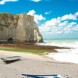 Loriental Photography - Fishing Boats on the Beach at Etretat