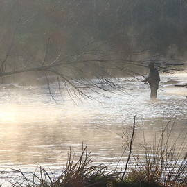 Phil Rispin - Fishing in the Early Morning Mist