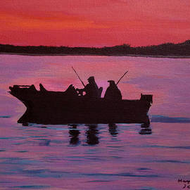 Maggie Ullmann - Fishing in the sunset