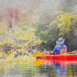 Nancy RC Hebert - Fishing on the Swift River