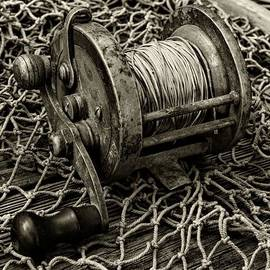 Paul Ward - Fishing - That Old Fishing Reel in Black and White