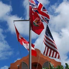 Flags At Grotto Bay Bermuda