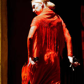 Mary Machare - Flamenco Dancer with Golden Hair - Oil
