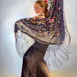 Margaret Merry - Flamenco dancer with shawl