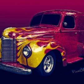 Chas Sinklier - Flaming 47 International Panel Truck