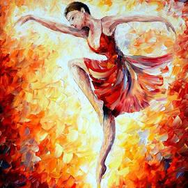 Leonid Afremov - Flaming Dance - PALETTE KNIFE Oil Painting On Canvas By Leonid Afremov