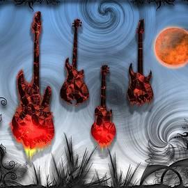 Michael Damiani - Flaming Guitars