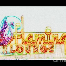 Kelly Awad - Flamingo Lounge in Colored Pencil and Cinerama 2