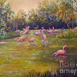 Lou Ann Bagnall - Flamingos Froliking