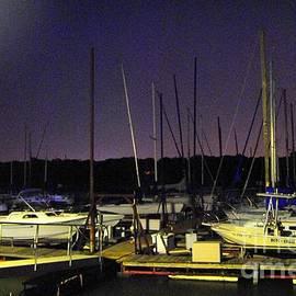 ARTography by Pamela  Smale Williams - Twilight Marina Sail Boats