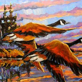 Richard T Pranke - Flight Navigations Geese in  Motion