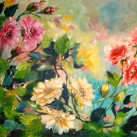 Marguerite Ujvary Taxner - Floral Flowing
