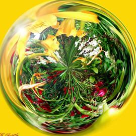 Brenda  Spittle - Floral Garden Globe