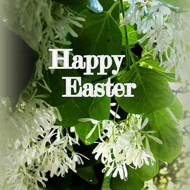 Carla Parris - Floral Happy Easter Greeting Card