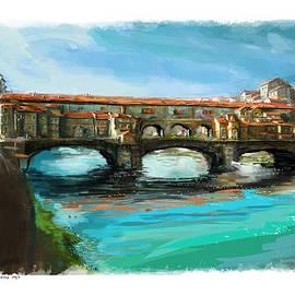 Brian Lee Arts - Florence Italy Ponte Vecchio Bridge