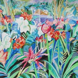 Esther Newman-Cohen - Flower Festival in Blue