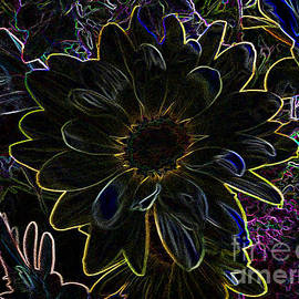 Luther   Fine Art - Flower In Fireworks