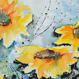 Ismeta Gruenwald - Flower Power- Floral Painting