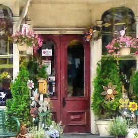 Susan Savad - Flower Shop With Birdhouse