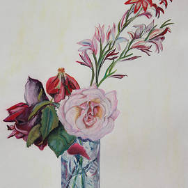 Asha Carolyn Young - Flowers in a Crystal Vase
