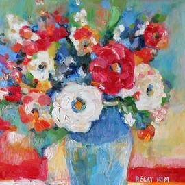 Becky Kim - Flowers in Blue Vase 1