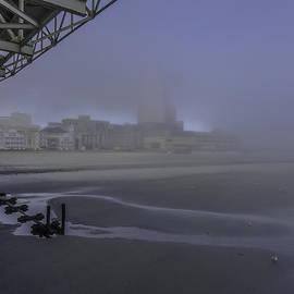 Charles A LaMatto - Fog AC Beach and Boardwalk
