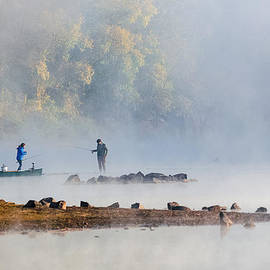 RB Art - Foggy Morning st Croix River Stillwater MN