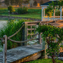 Gene Sherrill - Foot Bridge and Gazebo