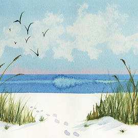 Nan Wright - Footprints on the Beach