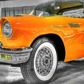 John Straton - Ford Thunderbird Convertable Orange